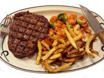 Bison Steak Dish Stockfoto