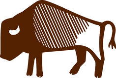 Bison. Stylized illustration of a buffalo, or american bison. EPS vector format available Royalty Free Stock Photo