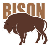 Bison vector Royalty Free Stock Images