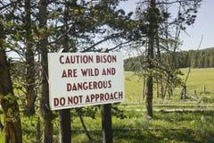 Bison Warning photo libre de droits