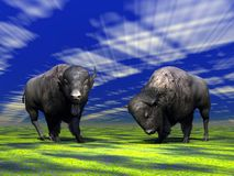 Bisons Illustration Stock
