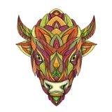 Bisonte americano Bison Mandala Immagine Stock Libera da Diritti