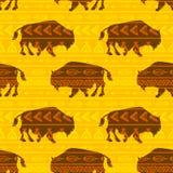 Bisonte del vector Imagen de archivo libre de regalías