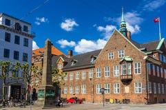 Bispetorv和House主教的在哥本哈根 库存照片