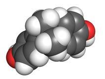 Bisphenol A分子 免版税图库摄影