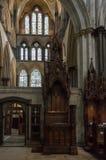 Bispo Chair Cathedra na catedral de Salisbúria imagem de stock
