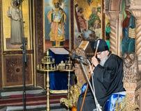 Bispo de Sliven no festival da música ortodoxo em Pomorie, Bulgária Fotografia de Stock