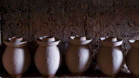 Bisque ceramic greenware pottery Royalty Free Stock Photo