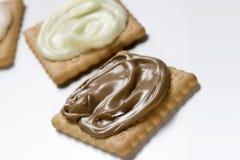 Bisquit avec de la crème Photographie stock libre de droits