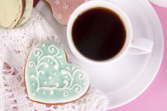Bisquit and coffee Stock Photography