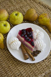Bisquits και φρούτα 14 Στοκ Εικόνες