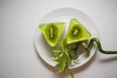 Bisquits della frutta con il kiwi Immagine Stock Libera da Diritti