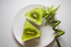 Bisquits della frutta con il kiwi Immagini Stock Libere da Diritti