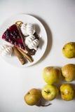 Bisquits 03 i owoc Fotografia Stock