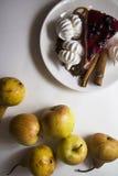 Bisquits 02 i owoc Fotografia Stock