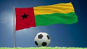 Bissau futbolu i trzepotać chorągwiane rolki