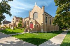 Bisschoppelijke kerk in Logan, Utah royalty-vrije stock fotografie