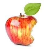 Bissen auf einem roten Apple Lizenzfreies Stockfoto