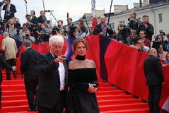 Bisset and Annaud at Moscow Film Festival Stock Image
