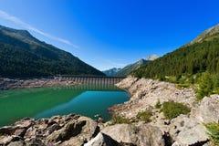Bissina See mit Verdammung - Adamello Trento Italien Stockbild