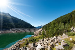 Bissina See mit Verdammung - Adamello Trento Italien Lizenzfreies Stockfoto