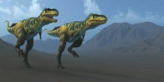 Bistahieversor Dinosaurs Hunting Royalty Free Stock Image