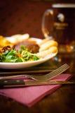 Bistecca al pub Immagini Stock