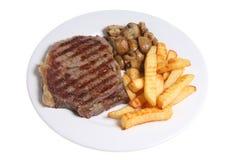 Bistecca & patatine fritte Fotografia Stock Libera da Diritti