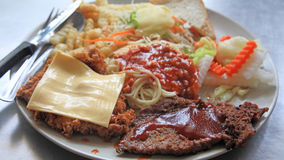 Bistecca arrostita della carne della miscela Immagine Stock