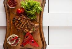 Bistecca arrostita della carne di maiale arrostita Fotografie Stock