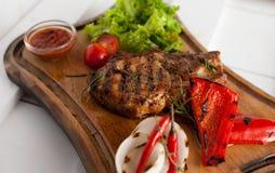 Bistecca arrostita della carne di maiale arrostita Fotografia Stock