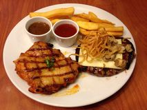 Bistecca combinata dell'insieme Immagine Stock