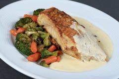 Bistecca con e broccolo Immagini Stock Libere da Diritti