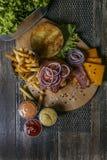 Bistecca con formaggio bulgaro Immagine Stock