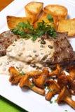 Bistecca cotta Fotografia Stock Libera da Diritti