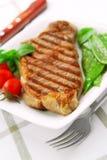 Bistecca cotta Fotografia Stock