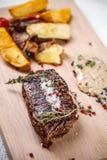 Bistecca cotta Fotografie Stock