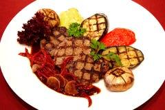 Bistecca cotta Gourmet immagini stock