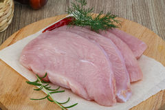 Bistecca cruda del tacchino Immagini Stock Libere da Diritti