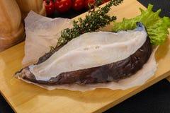 Bistecca cruda della bavosa lupa fotografie stock