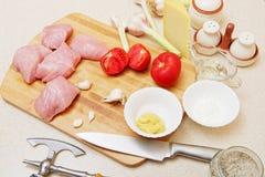 Bistecca cruda della carne di tacchino Fotografia Stock