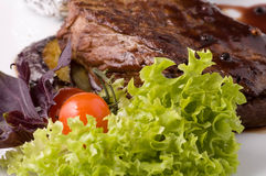 Bistecca cucinata Immagini Stock