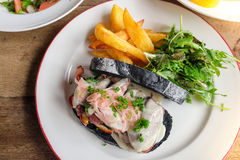 Bistecca del panino Fotografie Stock Libere da Diritti