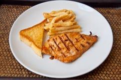 Bistecca del pollo Immagine Stock