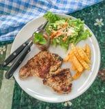 Bistecca del porco Fotografia Stock
