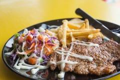 Bistecca del porco Fotografie Stock