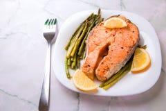 Bistecca del salmone Immagine Stock