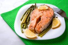Bistecca del salmone Fotografia Stock Libera da Diritti