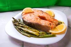 Bistecca del salmone Immagini Stock