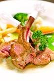 Bistecca dell'agnello Fotografia Stock